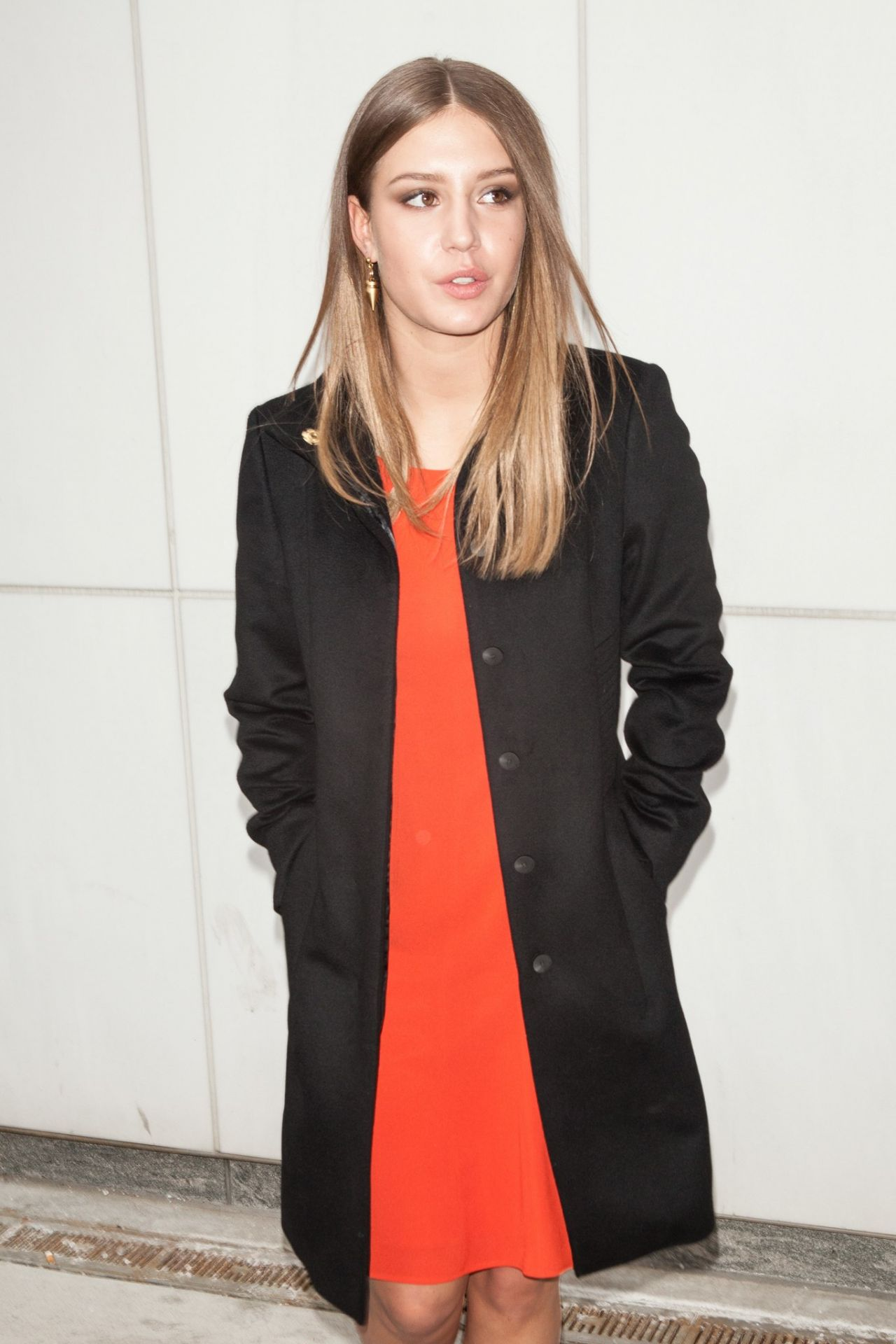 Adèle Exarchopoulos at New York Fashion Week, February 2014