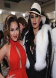 Adrienne Bailon - Michael Costello Fashion Show in New York, February 2014