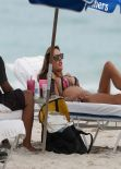 Alessandra Ambrosio Bikini Candids - at the Beach on January 31, 2014
