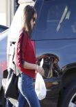 Alessandra Ambrosio in Tight Jeans  - Out in Brentwood, February 2014