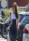 Alessandra Ambrosio Street Style - Brentwood Country Mart, Feb. 2014