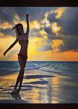 Alessia Ventura in Bikini - Backstage Photoshoot - Instagram, February 2014