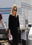 Ali Larter in All Black - On Set in Los Angeles - February 2014