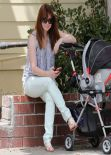 Alyson Hannigan Street Style - Out with Daughter Keeva in Los Angeles