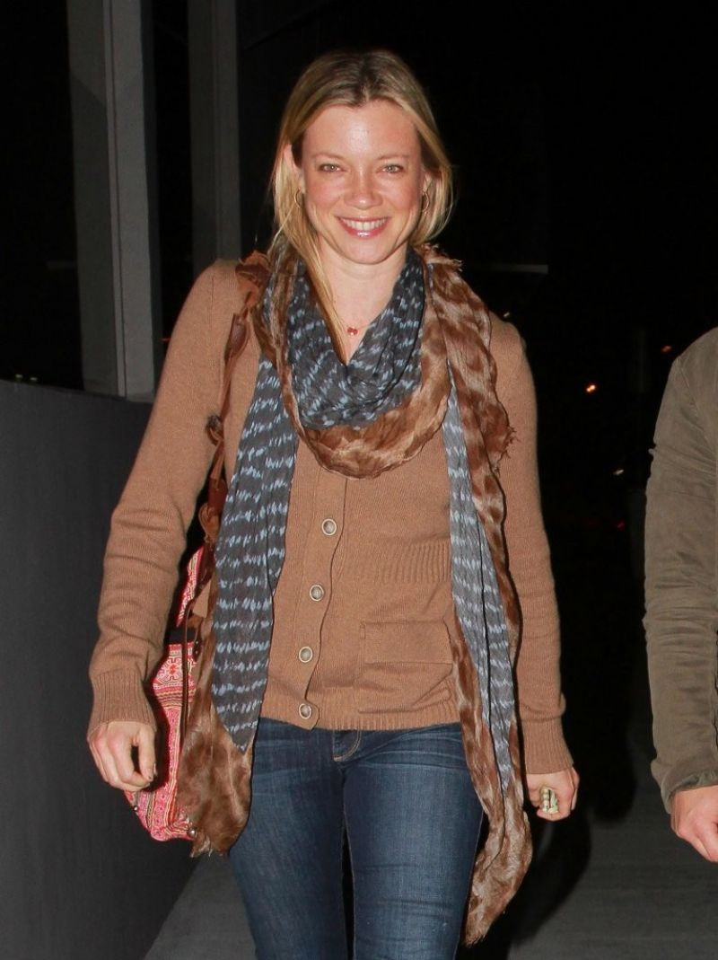 Amy Smart Night Out Style - Out in Los Angeles, February 2014
