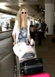 Amy Willerton Street Style - Arriving at LAX Airport, February 2014