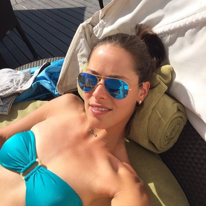 Ana Ivanovic in Bikini - Enjoying Dubai Sun, February 2014