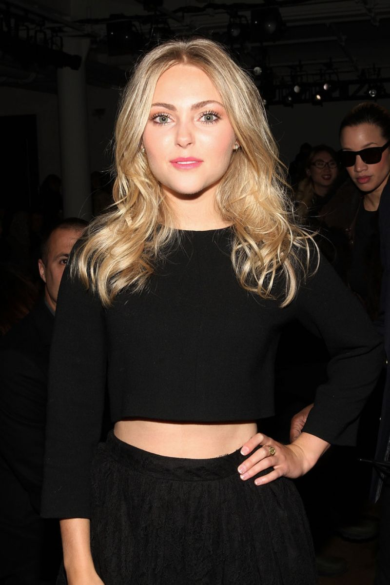 AnnaSophia Robb at Houghton Fashion Show in New York City