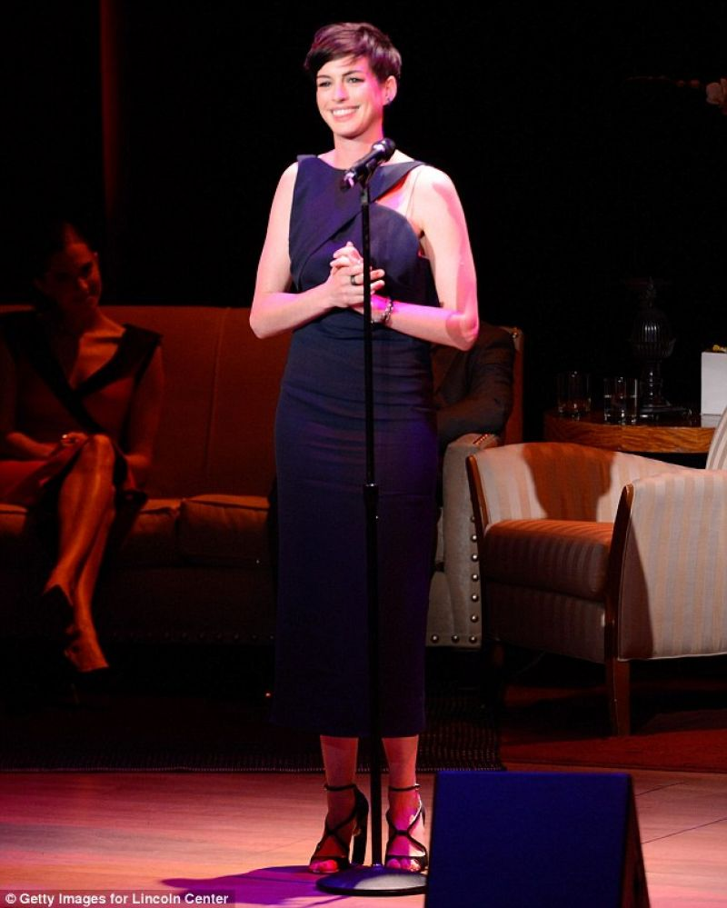 Sam Boik On Twitter: Anne Hathaway At Great American Songbook Event In New York
