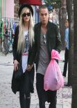 Ashlee Simpson Street Style - Out in Sherman Oaks - February 2014