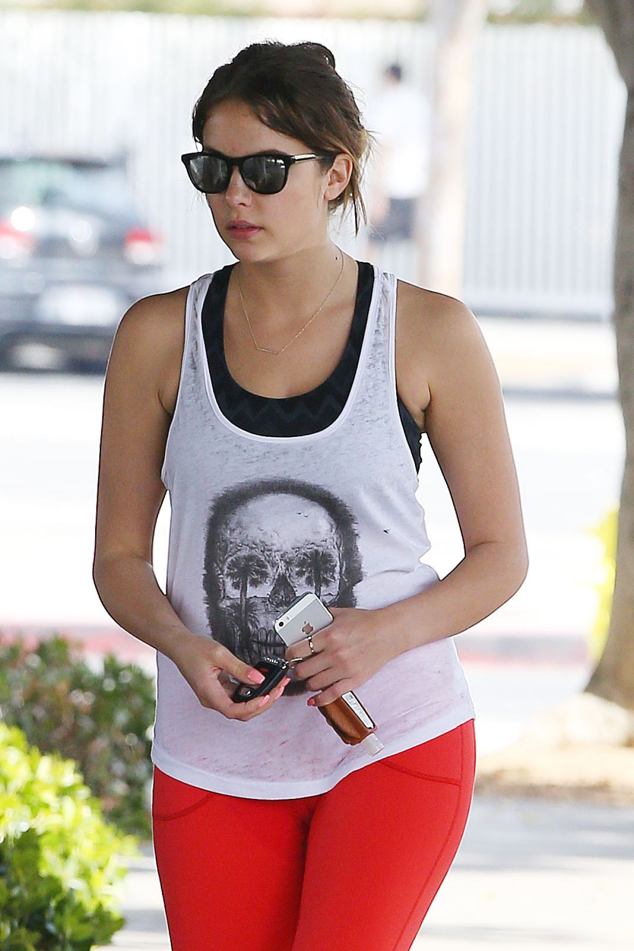 Ashley Benson Gym Style - Beverly Hills, February 2014