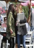 Ashley Tisdale & Shenae Grimes - Leaving Toast Bakery in Los Angeles, February 2014