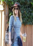 Ashley Tisdale Shows Off Legs In Short Dress - Out in Studio City - February 2014