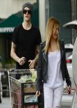 Ashley Tisdale Street Style - Grocery Shopping in Studio City - February 2014