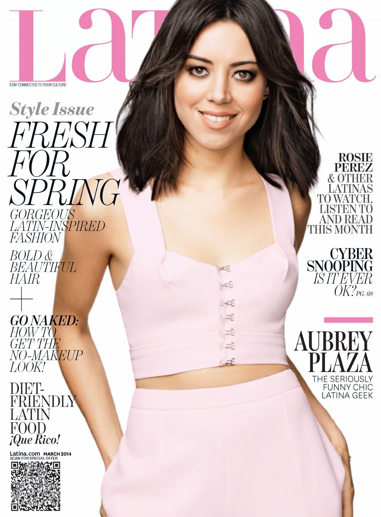 Aubrey Plaza - LATINA Magazine - March 2014 Issue