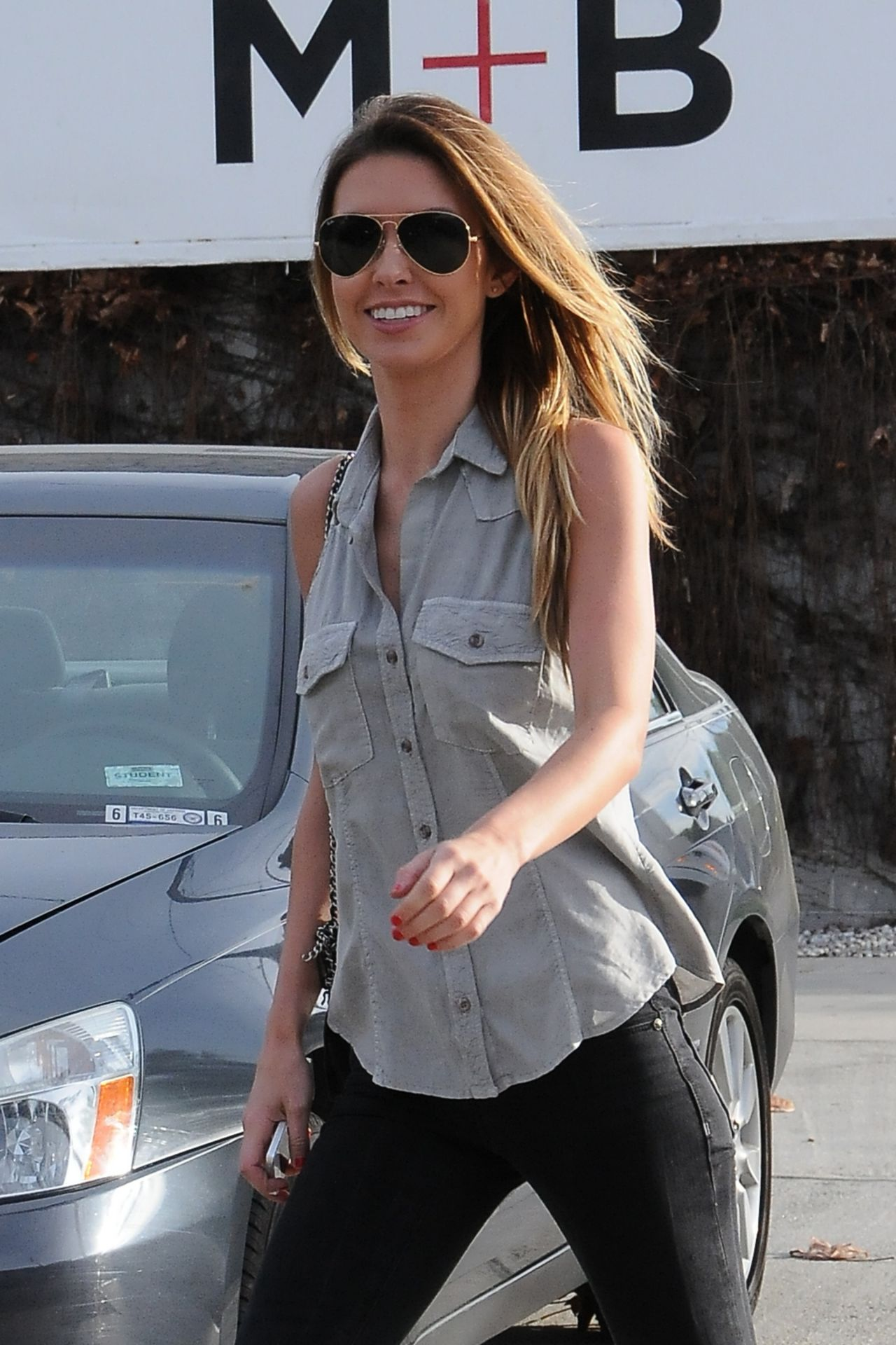 Audrina Patridge - Arriving at Andy Lecompte Hair Salon in California - January 2014