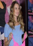 Behati Prinsloo - T-Shirt Bra Launch at Victoria
