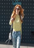 Bella Thorne in Ripped Jeans - Heads Out of a Meeting at 101 Cafe in Hollywood, Feb. 2014