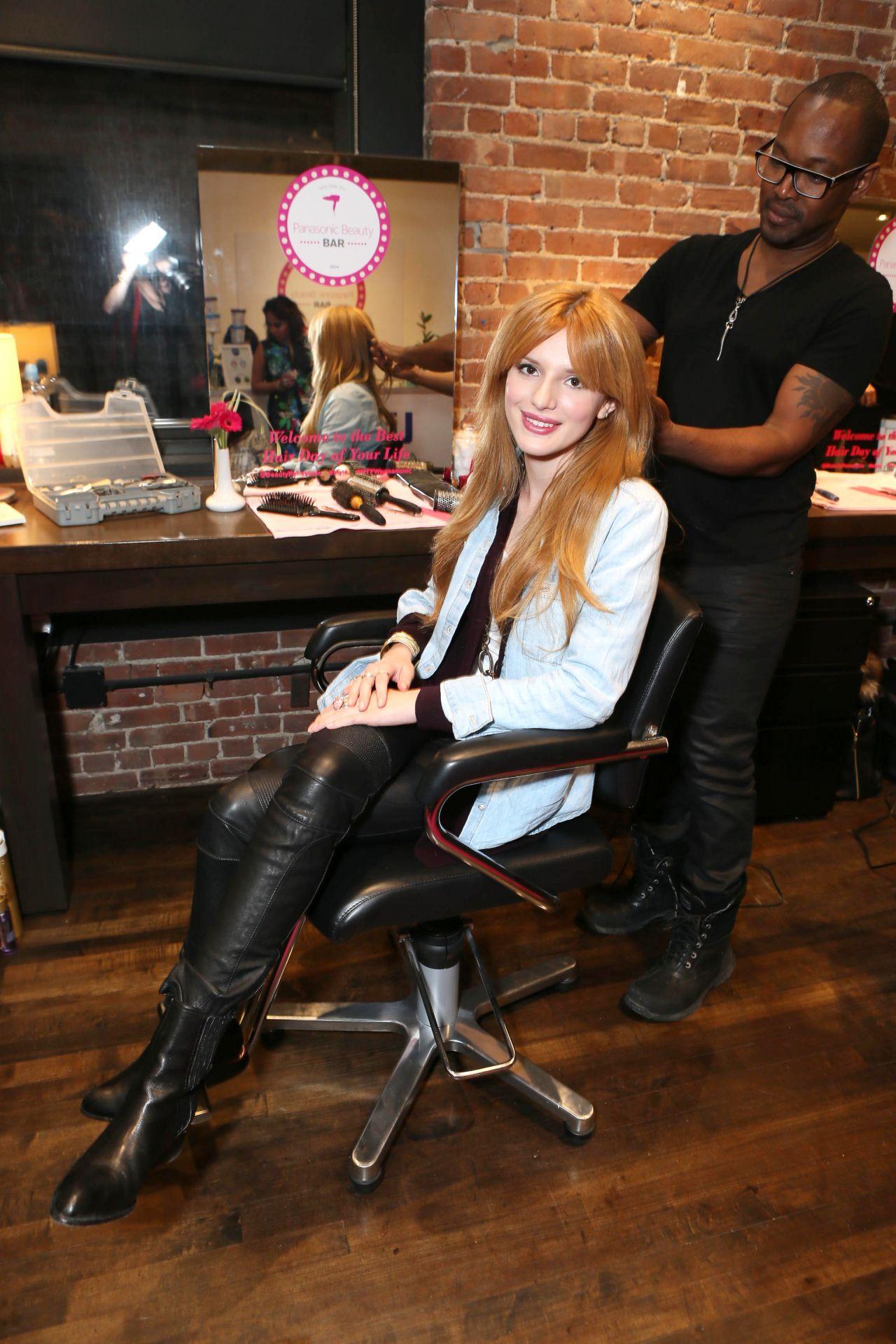 Bella Thorne - The Panasonic Beauty Bar at Salon SCK - February 2014