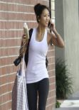 Brenda Song - Going to the Gym - Studio City, Feb. 2014