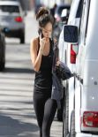 Brenda Song in Tights, Leaving the Gym in Studio City, February 2014