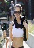 Brooke Burke Street Style - Leaving a Yoga Class in Malibu