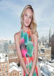 Candice Swanepoel All Smile at Desigual Presentation in New York - February 2014