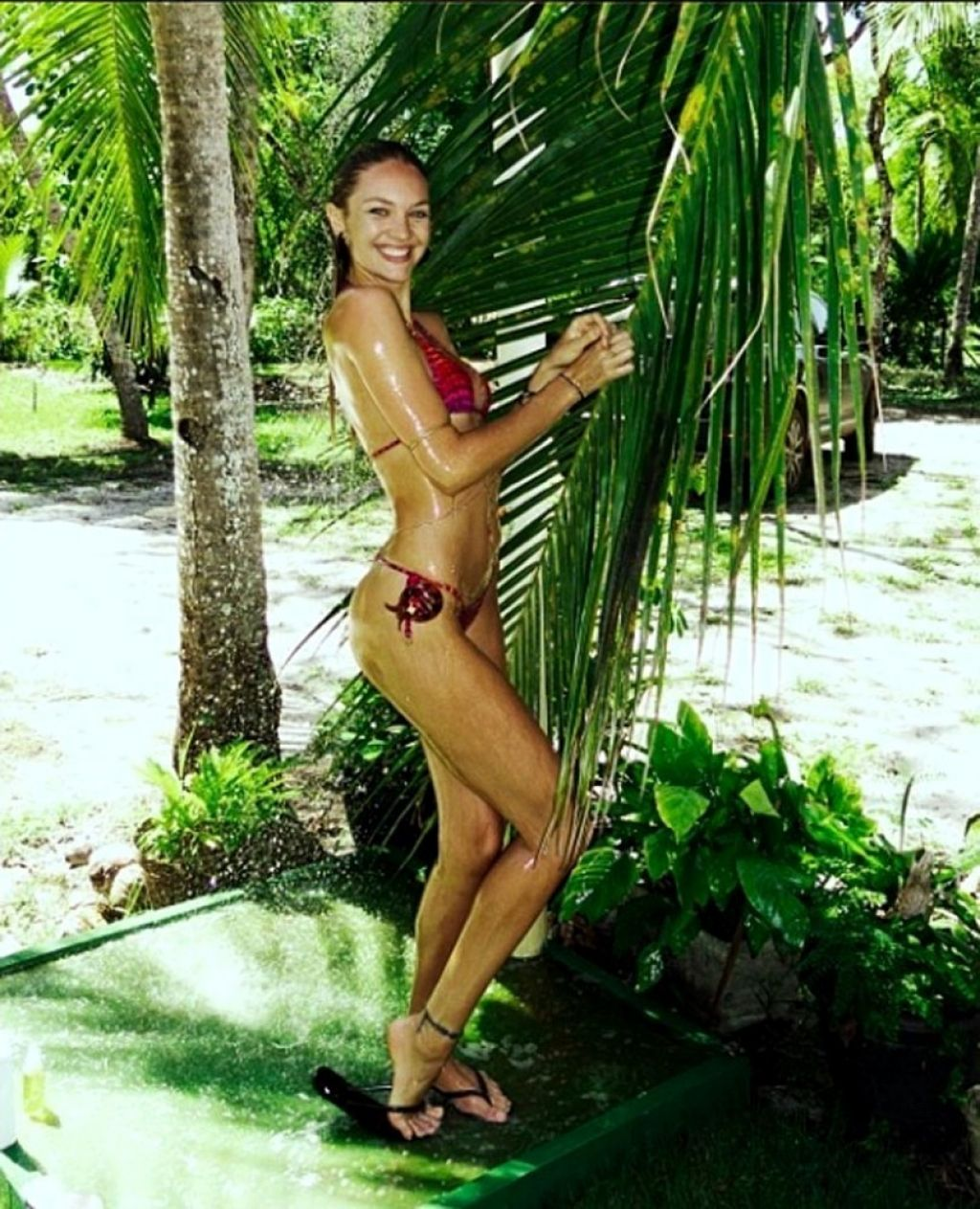 Candice Swanepoel Bikini Twitter Photo - February 2014