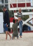 Candice Swanepoel Photoshoot Candids - Miami, February 2014