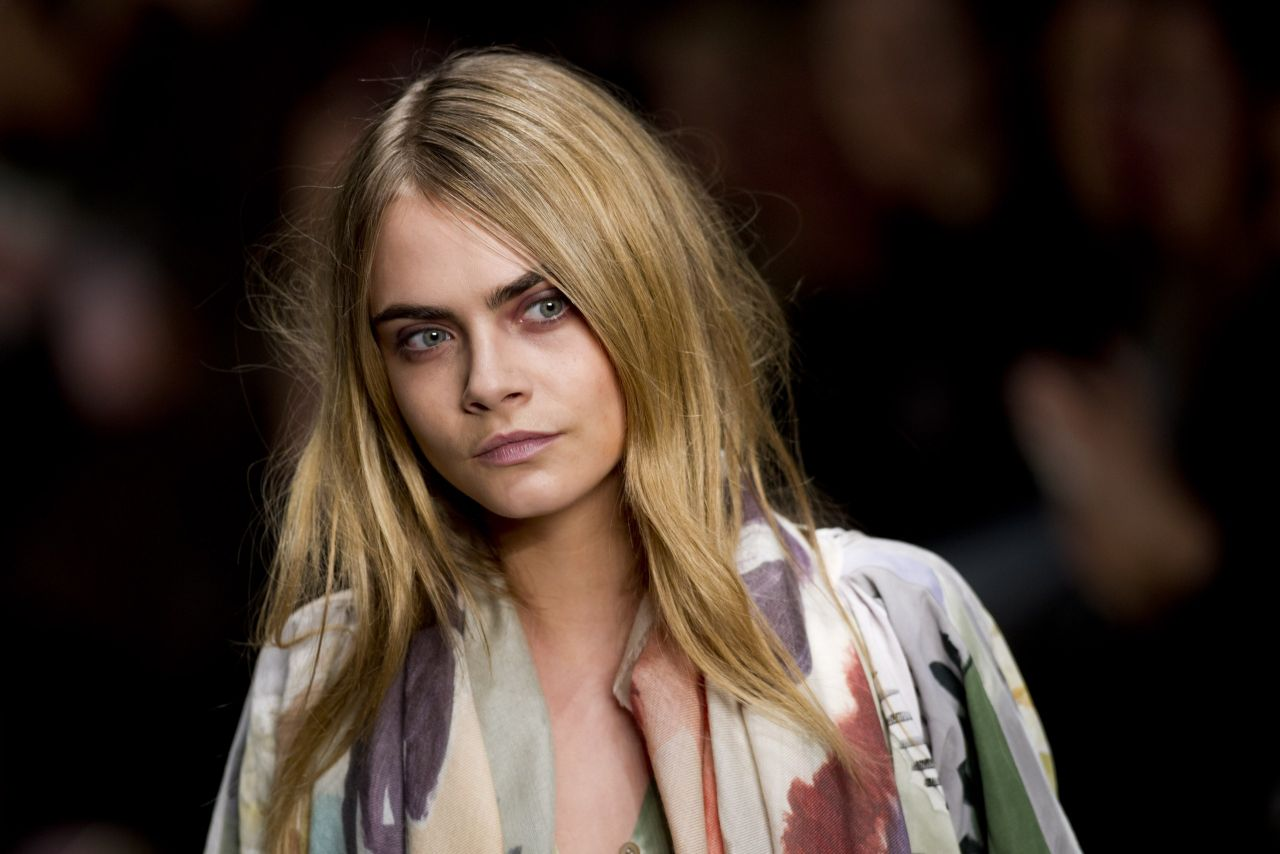 Cara Delevingne - Burberry Fall/Winter 2014-2015 Show, February 2014