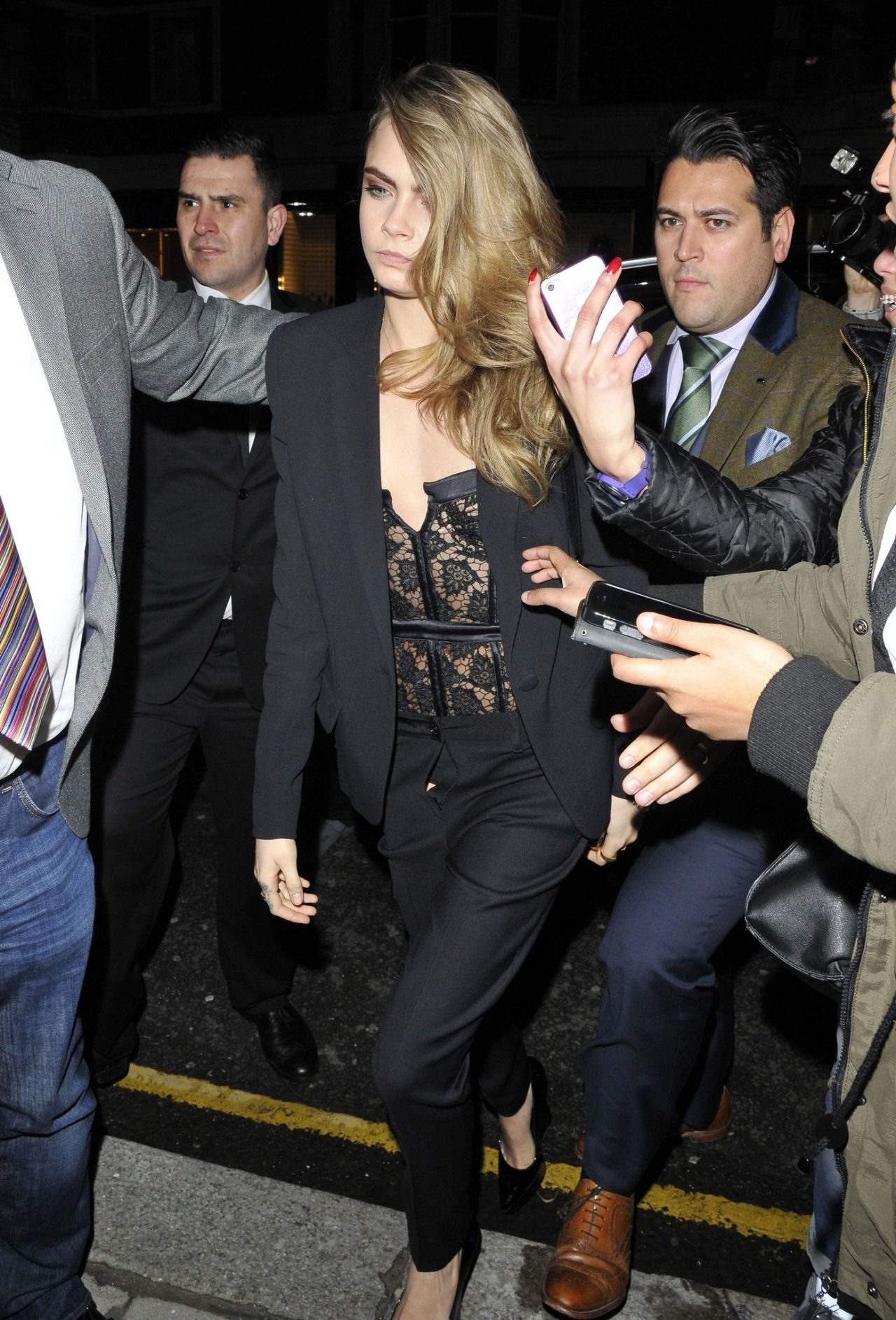 Cara Delevingne Leaving