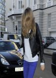 Cara Delevingne Street Style - Out in London - February 2014