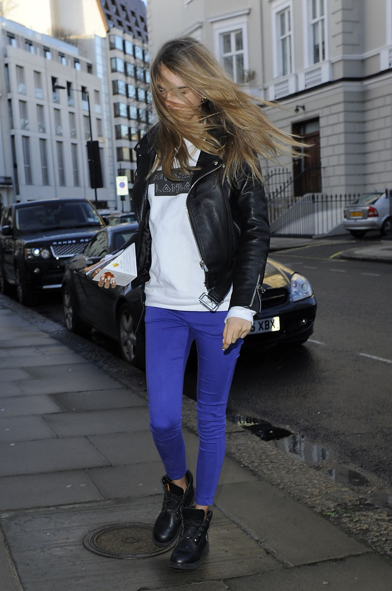 Cara Delevingne Street Style Out In London February 2014