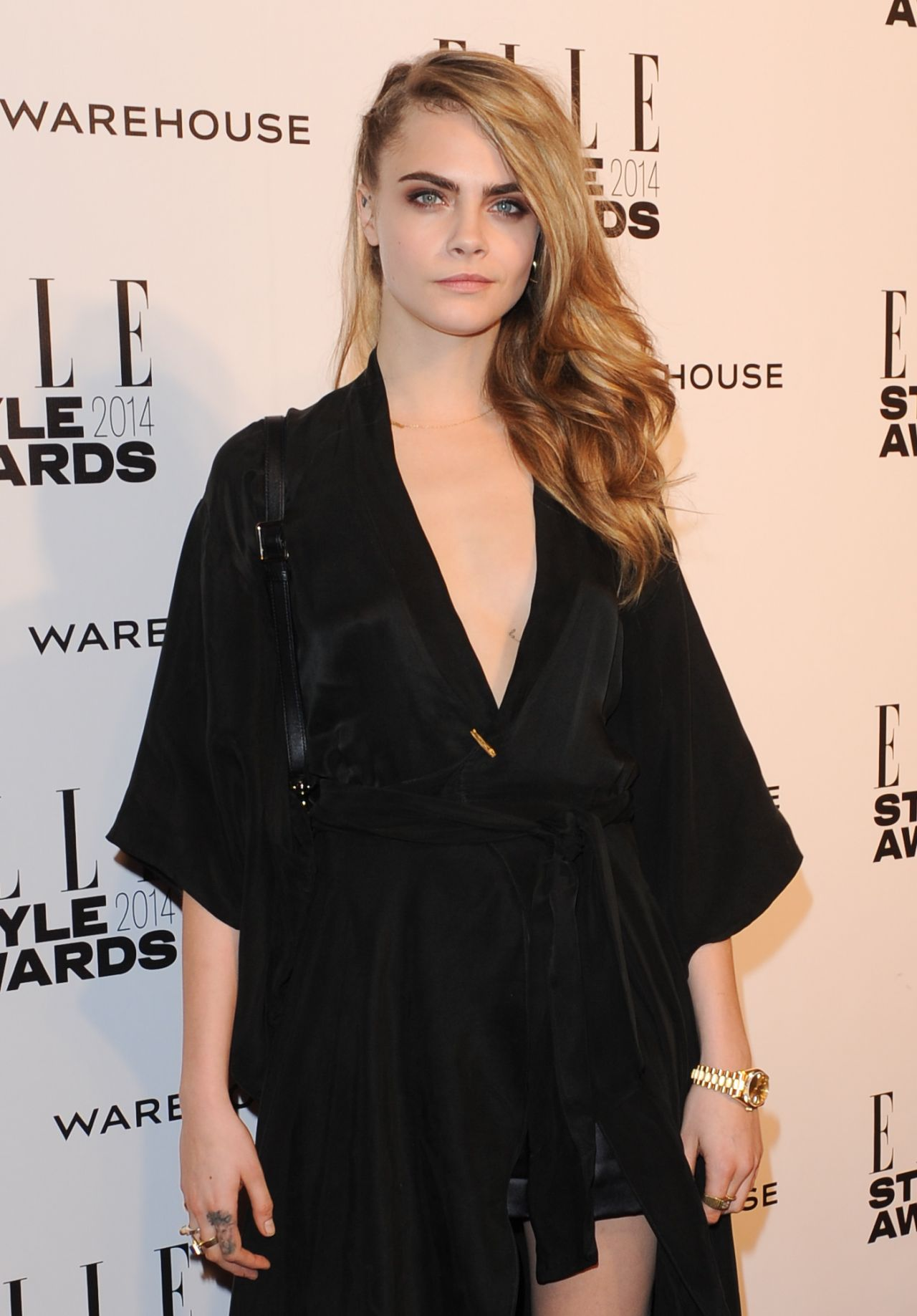 Cara Delevingne Wearing Vintage Dress - 2014 ELLE Style Awards