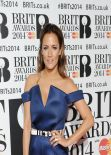 Caroline Flack - The BRIT Awards 2014 at the 02 Arena in London