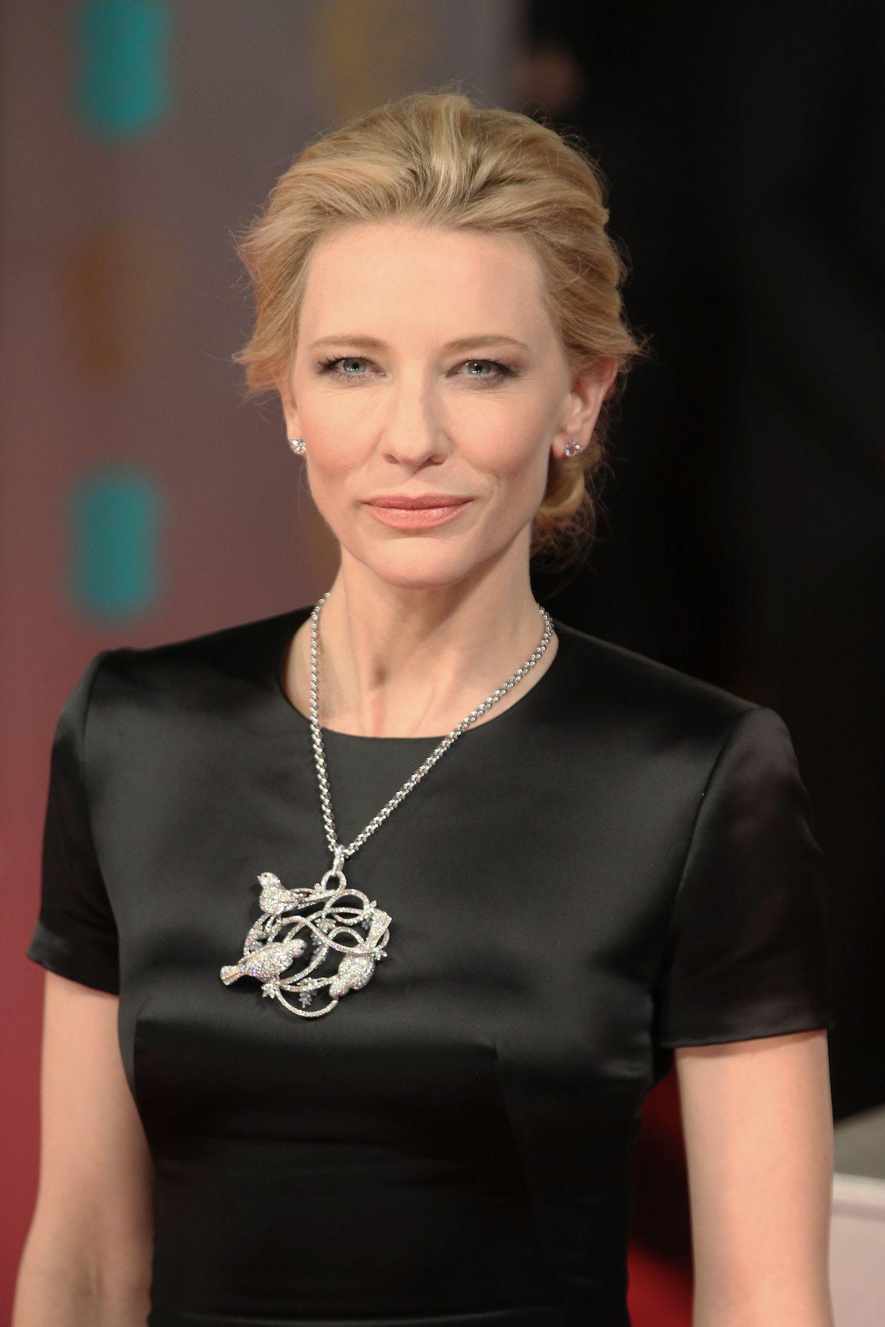 Cate Blanchett Wearing Alexander Mcqueen 2014 Bafta Awards