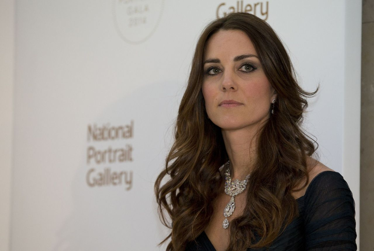 Catherine Middleton Attending National Portrait Gallery