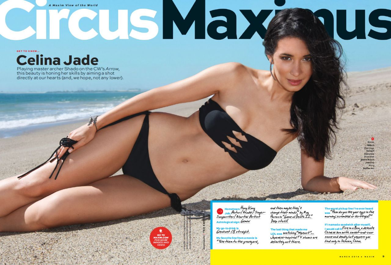 Celina Jade - Maxim Magazine - March 2014 Issue