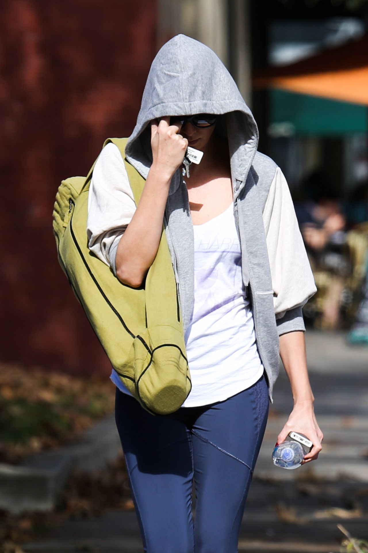 Charlize Theron - Leaving Yoga Class - West Hollywood, January 2014