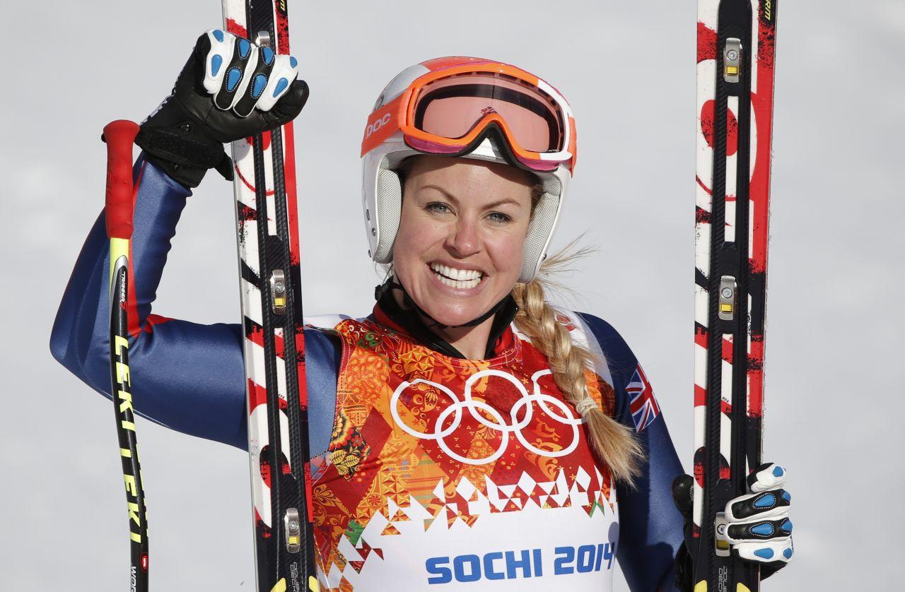 Chemmy Alcott – Alpine Ski Racer – 2014 Sochi Winter Olympics
