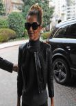 Cheryl Cole Looks Stylish in Black - Principe di Savoia Hotel in Milan, February 2014