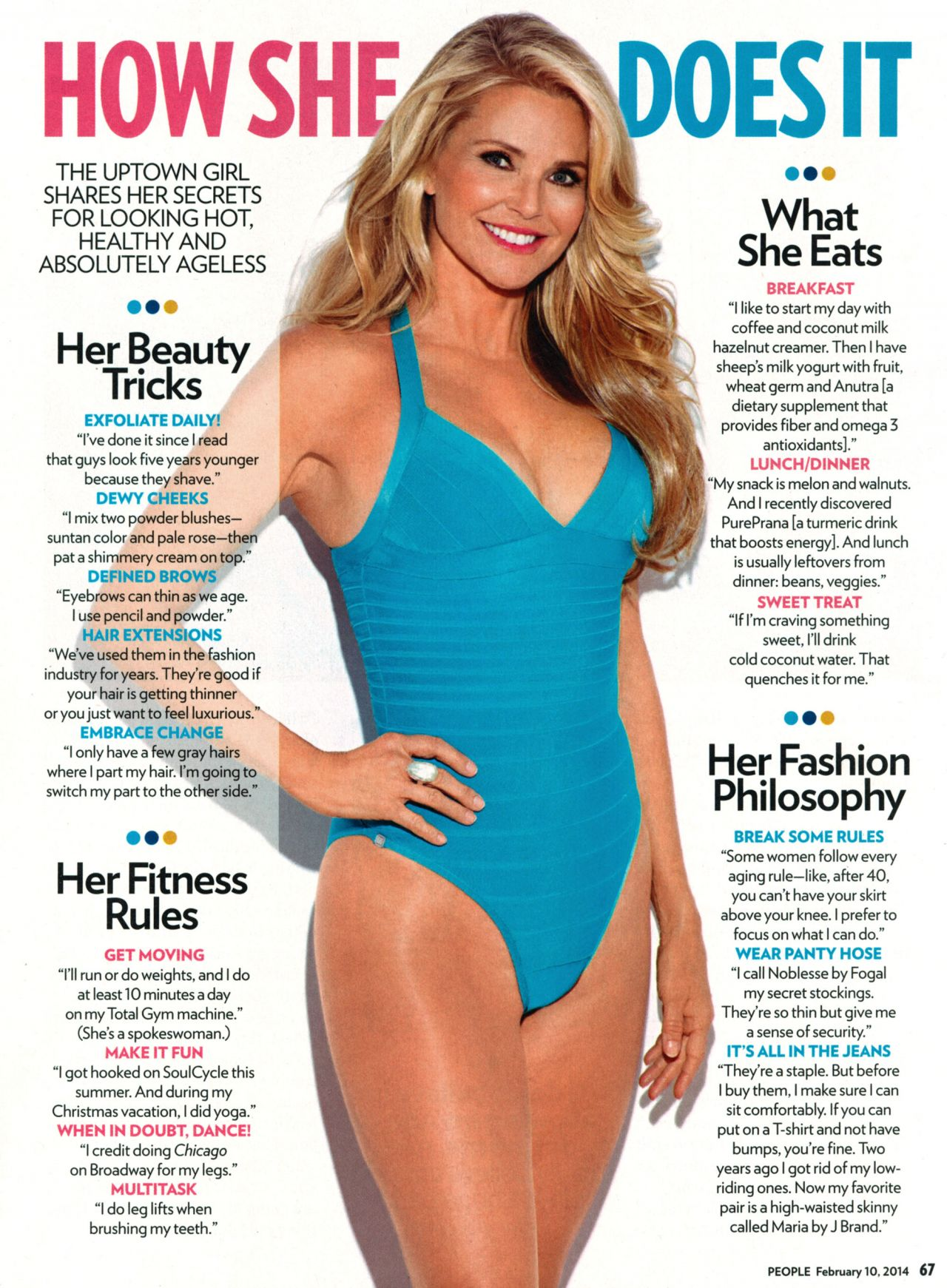 Christie Brinkley - PEOPLE Magazine - February 10, 2014 Issue