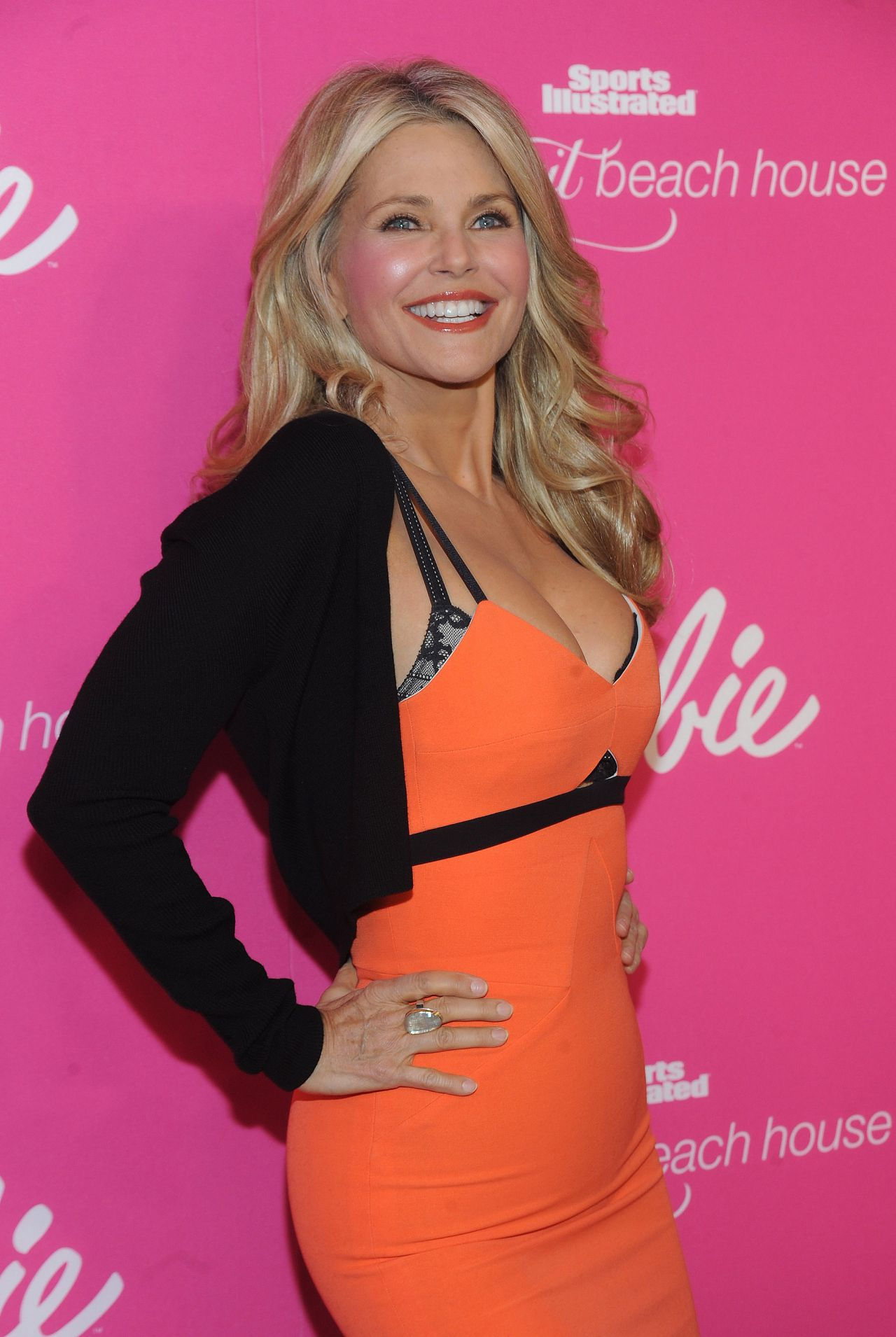 Christie Brinkley – SI Swimsuit 50th Anniversary Party – February 2014 (Part 2)