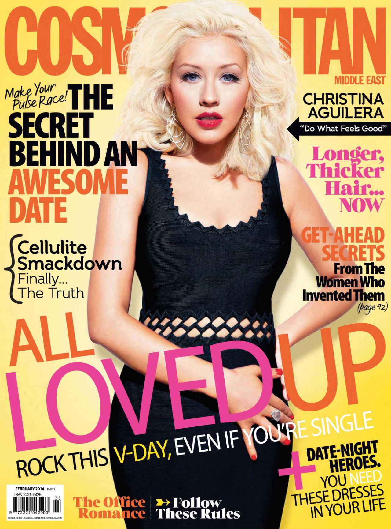 Christina Aguilera - COSMOPOLITAN Magazine (Middle East) -  February 2014 Issue