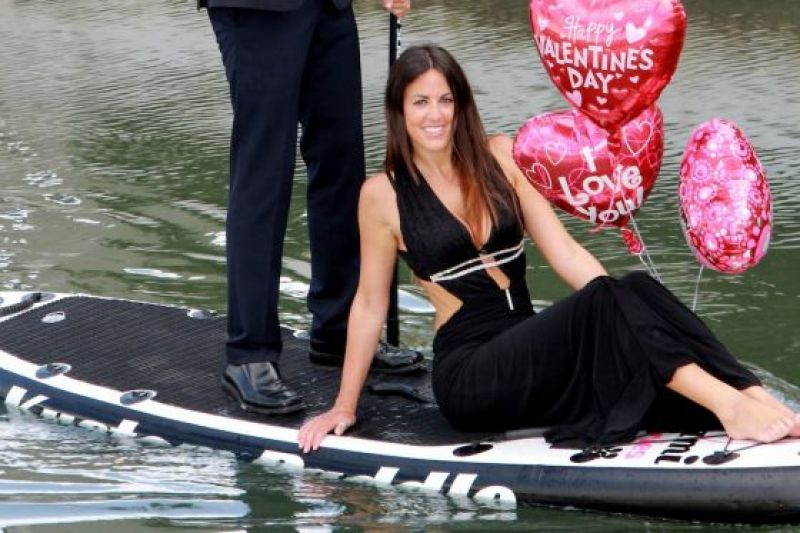 Claudia Romani - Valentine's Paddleboard Photoshoot - Miami Beach. February 2014