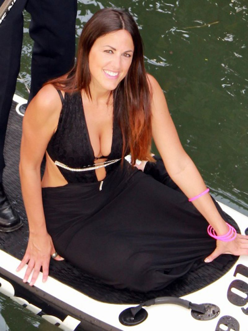 Claudia Romani U2013 Valentineu0027s Paddleboard Photoshoot U2013 Miami Beach. February  2014