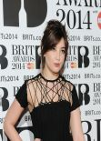 Daisy Lowe Wearing Sibling Dress at 2014 Brit Awards in London