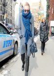 Dakota Fanning Winter Style - New York City February 2014