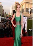 Darby Stanchfield Wearing Carolina Herrera Scoop-Neck Gown – 2014 NAACP Image Awards