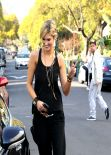 Delta Goodrem - All Black Outfit - Getting a Star Bucks Coffee in Studio City